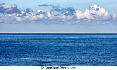 open sea - Beautiful sunny sea view, Blue sea and sky with...