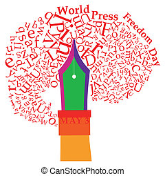 World Press Freedom Day - An abstract illustration on World...