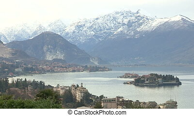Panoramic view of Lake Maggiore