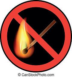 sign ban open flames vector