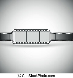 transparent film strip on gray background vector