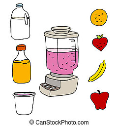 Juice Blender Item Set - An image of a juice blender item...