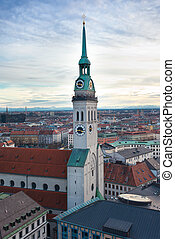 St. Peter's Church, Munich - Tower of St. Peter's Church,...
