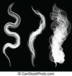 white smoke on a black background vector.