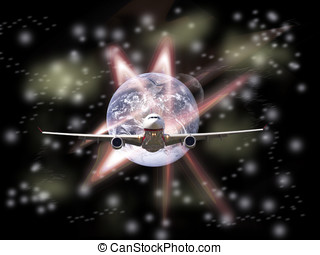 global transportation in the future(Earth Elements of this...