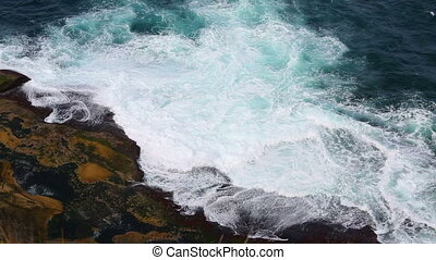 Ocean waves - Waves of the ocean hitting the cliffs
