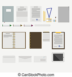 Icons for business - Set of icons for business on white.