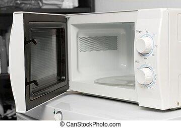 Microwave - Empty microwave oven with open door