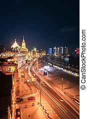 shanghai bund night view - beautiful night view of the bund...