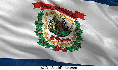 US state flag of West Virginia loop