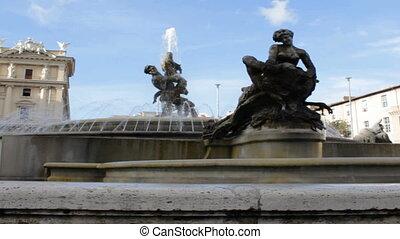 Piazza della Repubblica Fountain - View upon Piazza della...