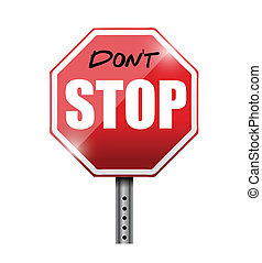 do not stop illustration design over a white background