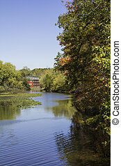 Autumn at the Delaware and Raritan Canal - Vertical - Fall...