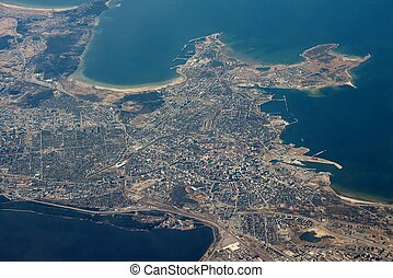 Tallin, capital of Estonia from the air