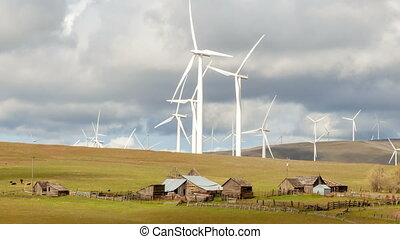 Wind Turbines and Farmland 1080p