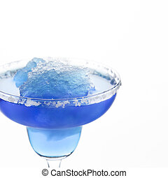 Blue Frozen Iceberg Margarita - A margarita glass is filled...