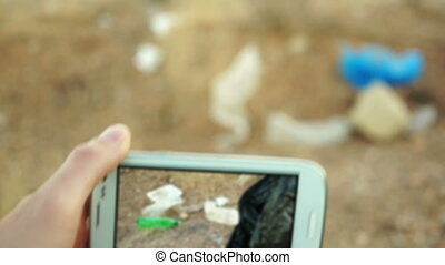 Cellular Vision Cleaning Garbage - Man looking through his...