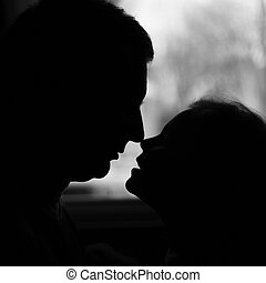 Daddy's Little Girl - A silhouette of a father and daughter...
