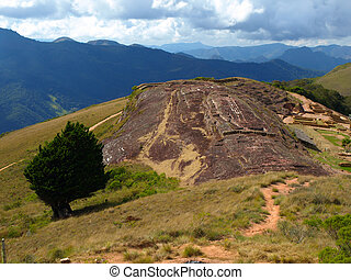 Samaipata Fortress - Global view of the main rock in...