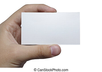mão, branca, Textured, cartão, seu, texto,...