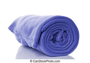fleece blanket - blue fleece blanket with reflection