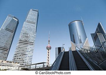modern cityscape of shanghai