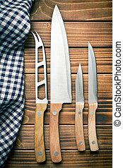 Conjunto, cocina, Cuchillos