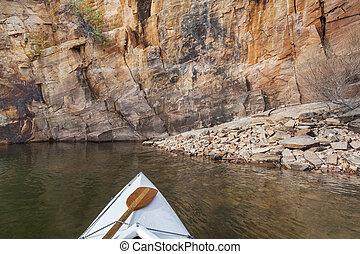 canoe on a Colorado lake