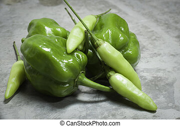 Green Peppers: Habanero and Tabasco - Green Habanero and...