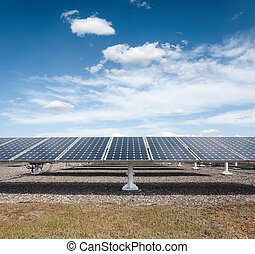 solar power against a blue sky