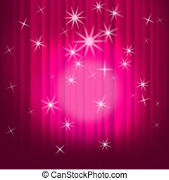 Closed Curtains Background Shows Theatre Performance Or Stage