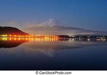 Mt Fuji in the early morning