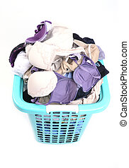 unwashed cloth in basket - unwashed cloth in the basket on...