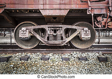 Abandonded Rail Yard - Details - Details of an old railroad...