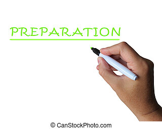 Preparation Word Means Readiness Preparedness And Foresight...