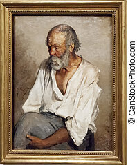 """Old Fisher"" of Picasso - BARD, ITALY - April 19, 2014:..."