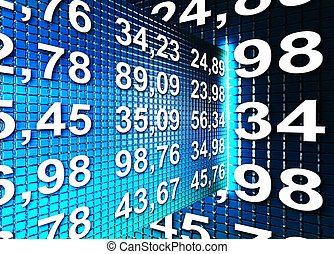 finance illustration - blue texture with numbers. finance...