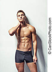 Muscular man with neck pain