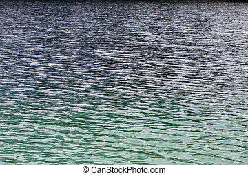 water and crystalline Alpine Lake blue green color - Fresh...