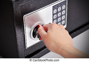 woman opened safe