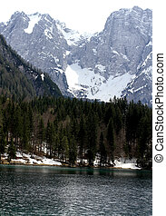 Alpine Lake with clear water and the mountains 4 - Fantastic...