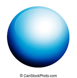 blue circumference on white background with light effects
