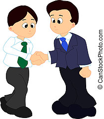 Two man giving their hand for a handshake - Vector...