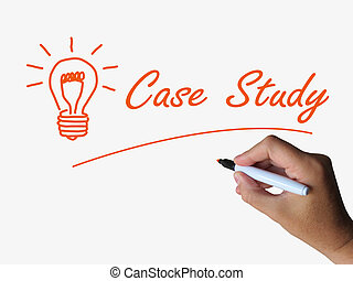Case Study and Lightbulb Indicate Concepts Ideas and...