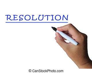 Resolution Word Shows Answer Solution Or Settlement -...