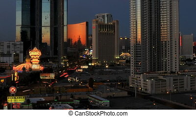 Vegas Sunrise Cropped - High definition sunrise shot in las...