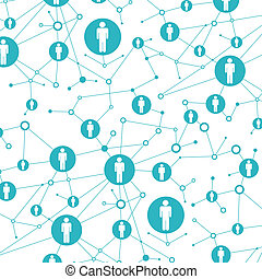 Social network. In lattice points are people icons - Social...
