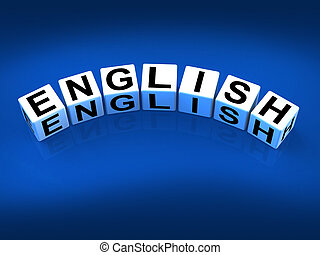 English Blocks Referring to Speaking and Writing Vocabulary...