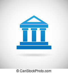 Law Court Bank House Symbol Justice Finance Icon Design...