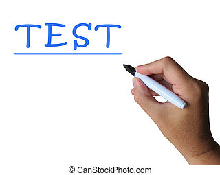 Test Word Means Examination Assessment And Mark - Test Word...